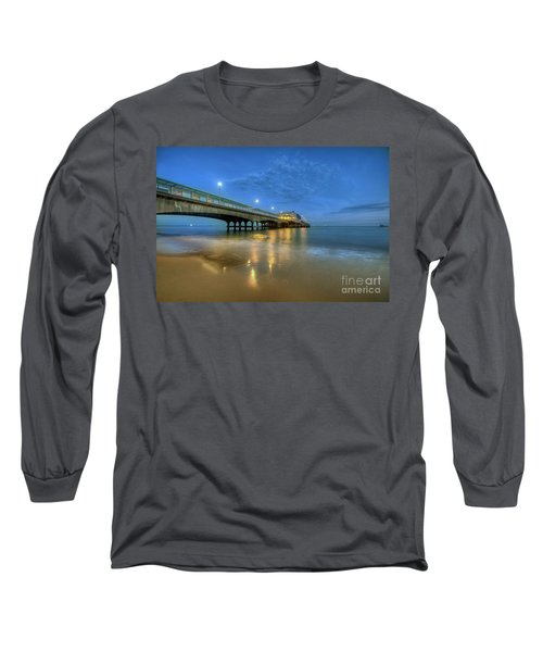 Long Sleeve T-Shirt featuring the photograph Bournemouth Pier Blue Hour by Yhun Suarez