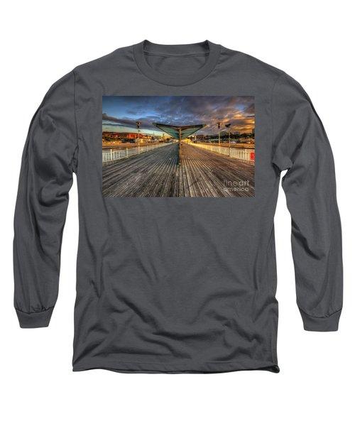 Long Sleeve T-Shirt featuring the photograph Bournemouth Pier Sunrise 2.0 by Yhun Suarez