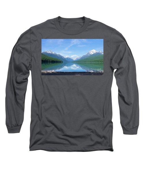 Bowman Lake Mt Long Sleeve T-Shirt