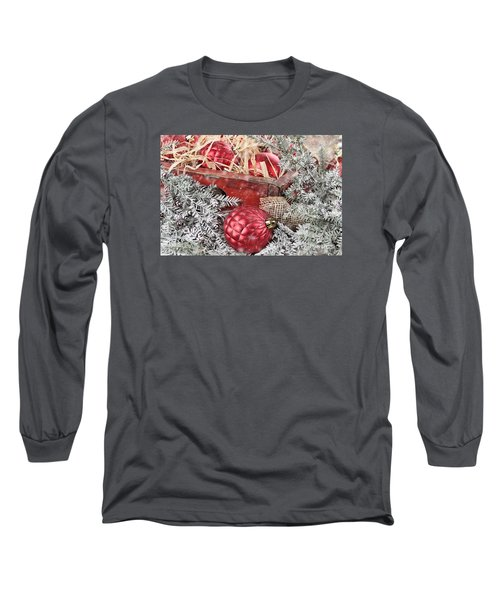 Box Of Red Glass Christmas Ornaments Long Sleeve T-Shirt