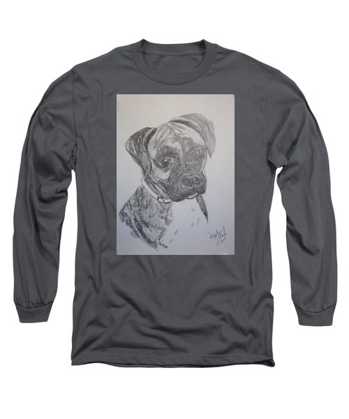 Boxer Long Sleeve T-Shirt by Marilyn Zalatan