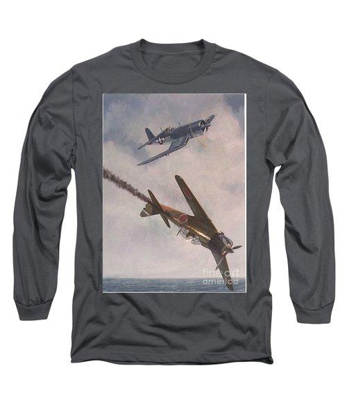 Long Sleeve T-Shirt featuring the painting Boyington Christmas by Paul Clinkunbroomer