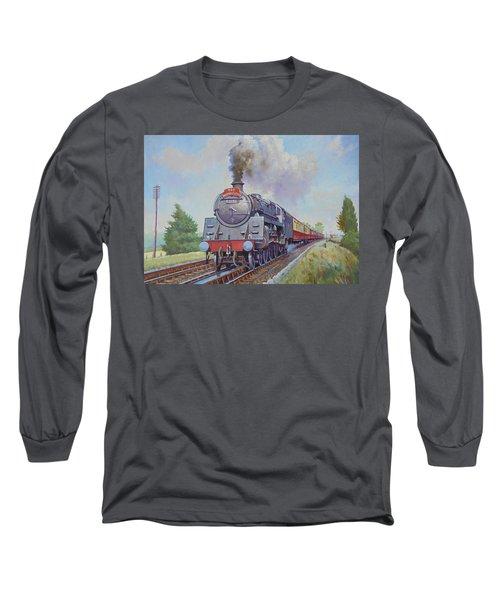 Br Standard Five 4-6-0. Long Sleeve T-Shirt