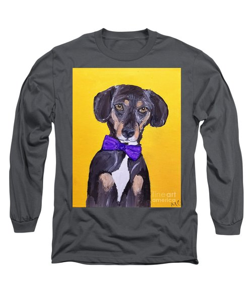 Brady Date With Paint Nov 20th Long Sleeve T-Shirt by Ania M Milo