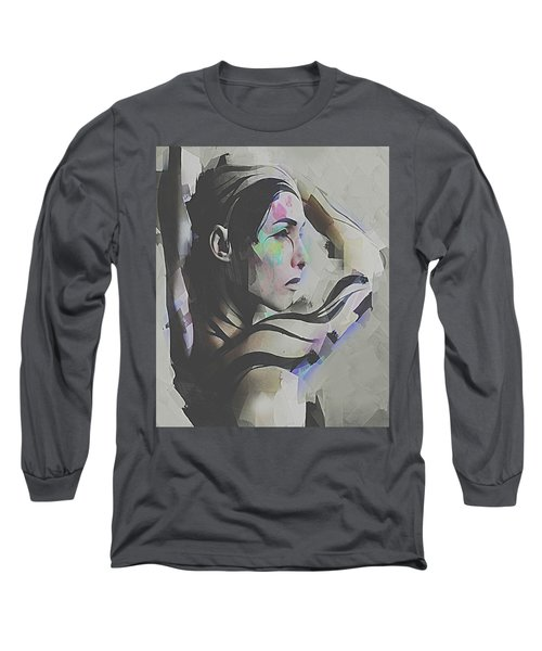Long Sleeve T-Shirt featuring the digital art Branches  by Galen Valle