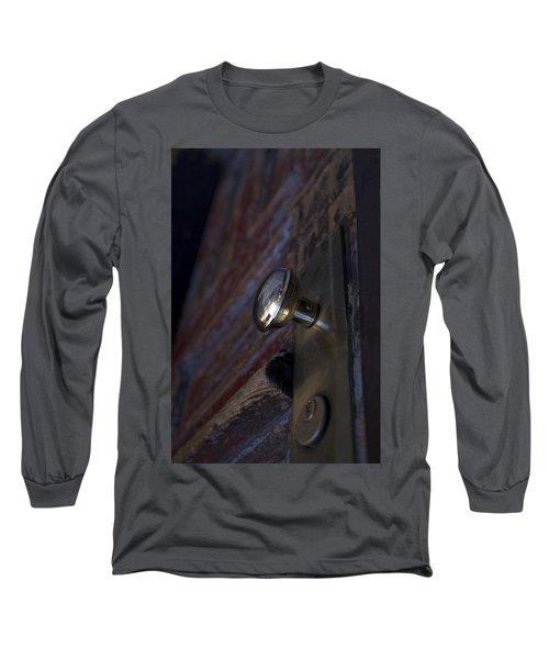 Brass Door Knob I Long Sleeve T-Shirt by Henri Irizarri