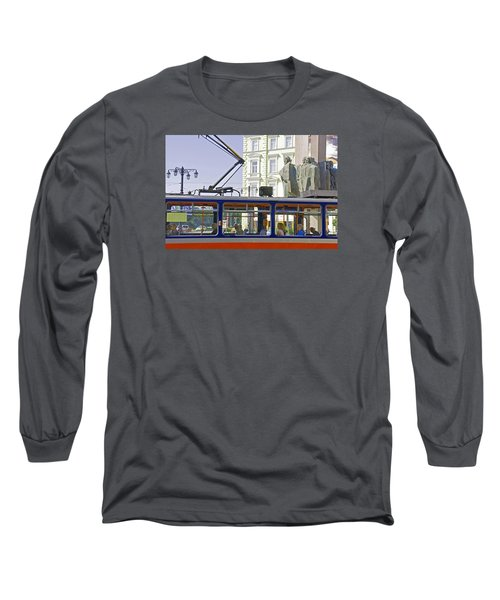 Long Sleeve T-Shirt featuring the photograph Bratislava Trolley by Dennis Cox WorldViews