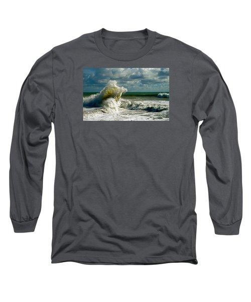 Breakwater Backwash Long Sleeve T-Shirt by Michael Cinnamond