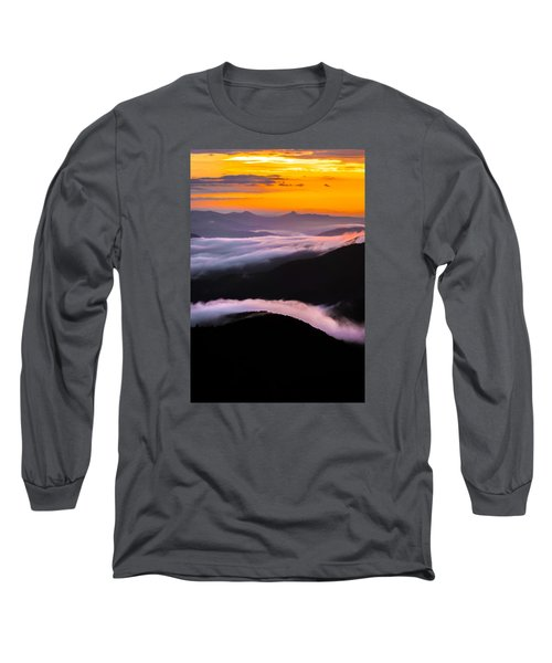 Breatthtaking Blue Ridge Sunrise Long Sleeve T-Shirt by Serge Skiba