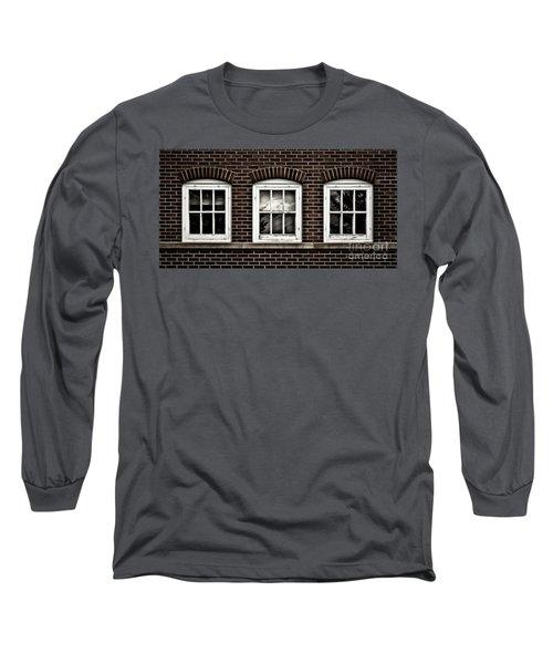 Long Sleeve T-Shirt featuring the photograph Brick Trio by Brad Allen Fine Art