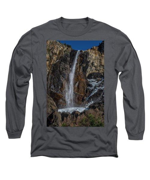 Bridal Veil Falls On Ice Long Sleeve T-Shirt