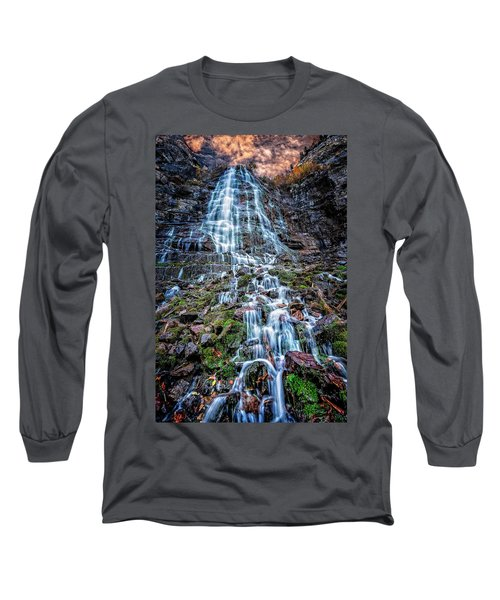 Bridal Veil Falls Utah Long Sleeve T-Shirt