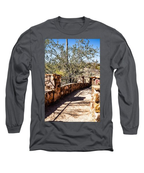 Bridge Over Desert Wash Long Sleeve T-Shirt by Lawrence Burry