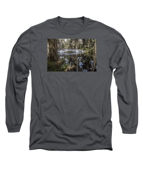 Bridge At Magnolia Plantation Long Sleeve T-Shirt