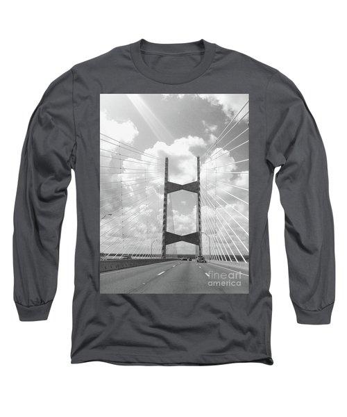 Bridge Clouds Long Sleeve T-Shirt by WaLdEmAr BoRrErO