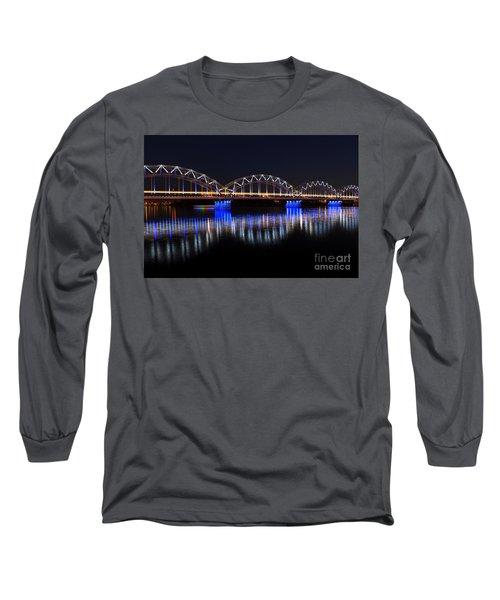 Bridge In Riga  Long Sleeve T-Shirt
