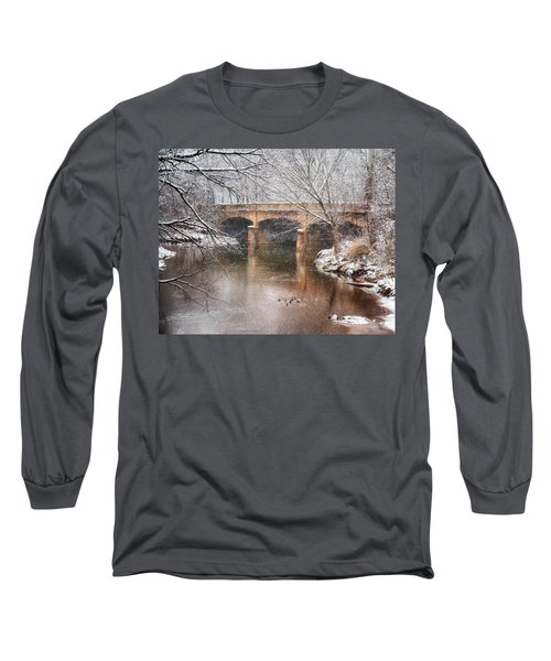 Bridge In Winter  Long Sleeve T-Shirt