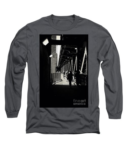 Bridge - Lower Lake Shore Drive At Navy Pier Chicago. Long Sleeve T-Shirt