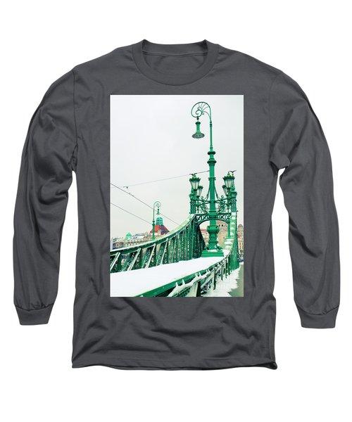 Bridge Of Liberty In Budapest Long Sleeve T-Shirt by Anastasy Yarmolovich