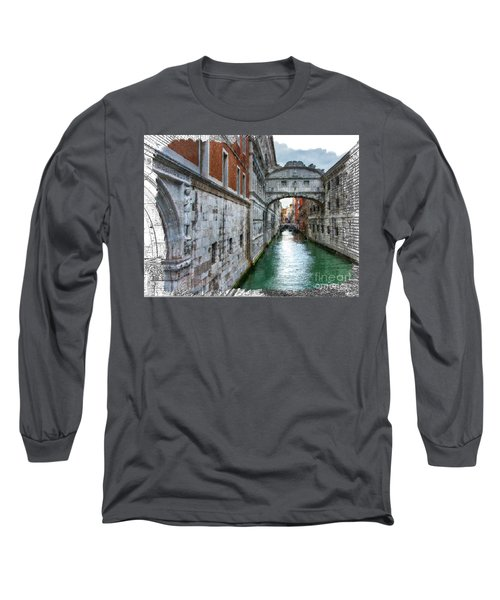 Bridge Of Sighs Long Sleeve T-Shirt by Tom Cameron