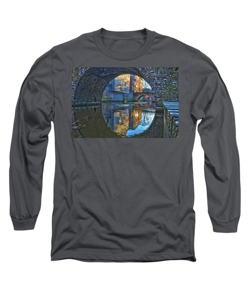 Bridges Across Binnendieze In Den Bosch Long Sleeve T-Shirt by Frans Blok