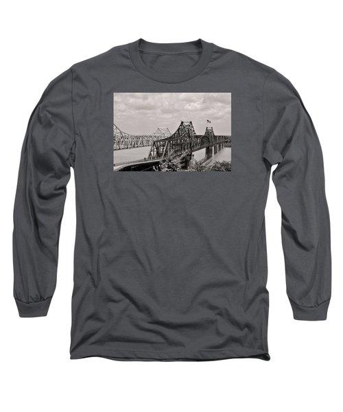 Bridges At Vicksburg Mississippi Long Sleeve T-Shirt by Don Spenner