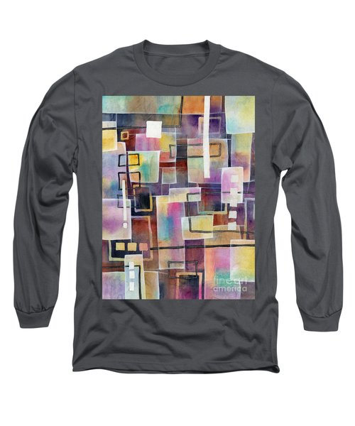 Long Sleeve T-Shirt featuring the painting Bridging Gaps by Hailey E Herrera