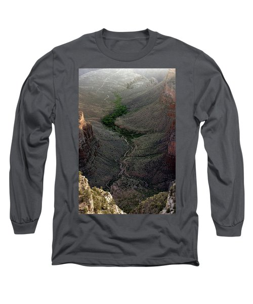 Bright Angel Trail From The South Rim, Grand  Canyon Long Sleeve T-Shirt