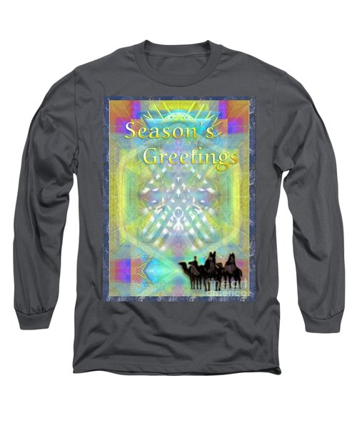 Bright Chalice Tree N 3 Kings Long Sleeve T-Shirt by Christopher Pringer