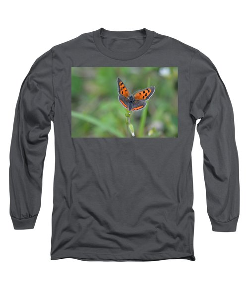 Bright Copper Long Sleeve T-Shirt by Janet Rockburn
