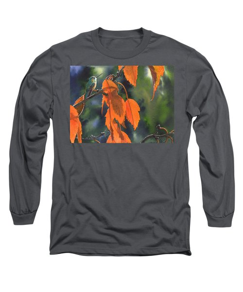 Bright Orange Leaves Long Sleeve T-Shirt