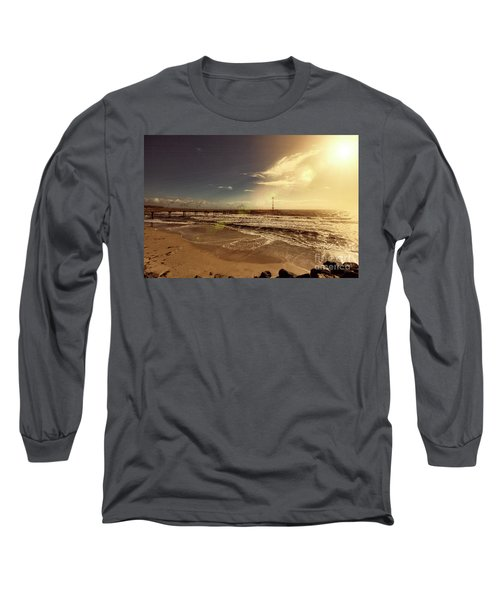 Brighton Beach Pier Long Sleeve T-Shirt by Douglas Barnard