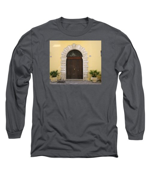 Brindisi By The Sea Door Long Sleeve T-Shirt