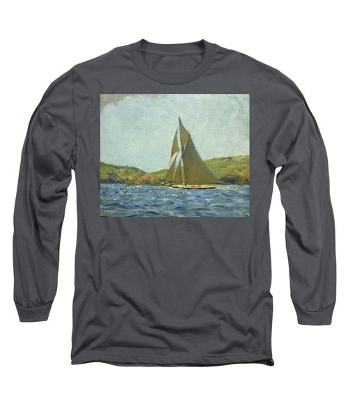Long Sleeve T-Shirt featuring the painting Britannia by Henry Scott Tuke
