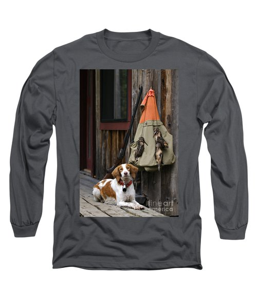 Brittany And Woodcock - D002308 Long Sleeve T-Shirt by Daniel Dempster