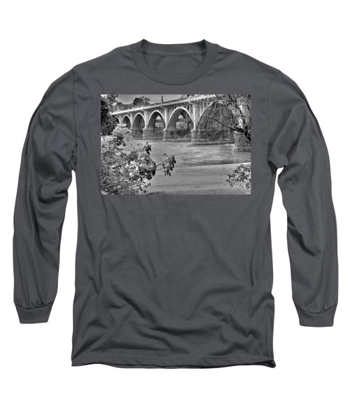 Gervais Street Bridge Black And White Long Sleeve T-Shirt