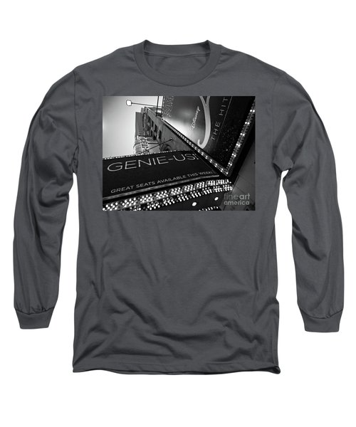 Long Sleeve T-Shirt featuring the photograph Broadway  -27868-bw by John Bald