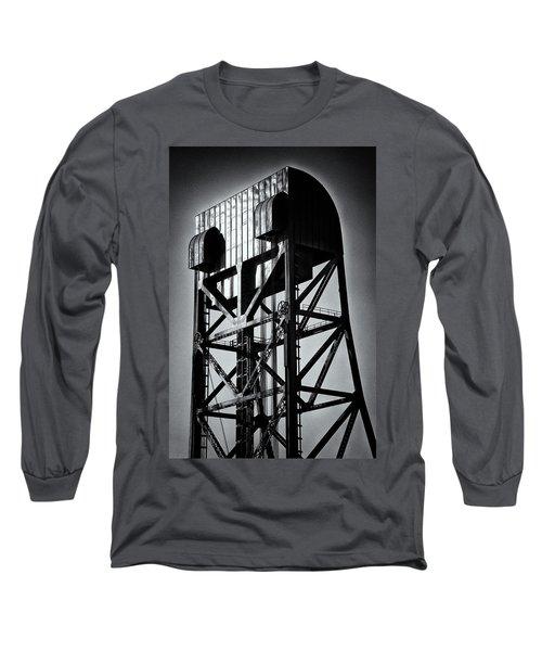 Broadway Bridge South Tower Detail 1 Monochrome Long Sleeve T-Shirt