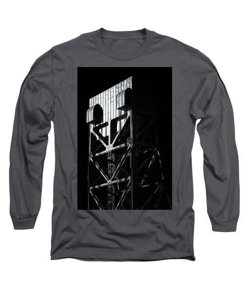 Broadway Bridge South Tower Detail 3 Monochrome Long Sleeve T-Shirt