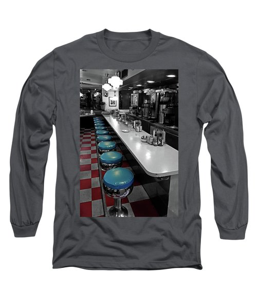 Broadway Diner Chairs Long Sleeve T-Shirt by Christopher McKenzie