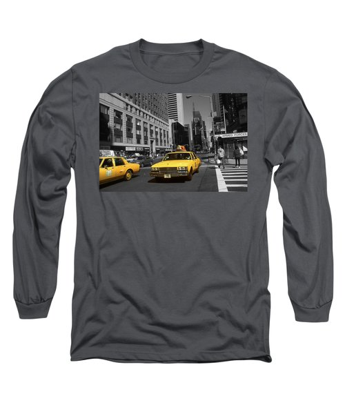 New York Yellow Taxi Cabs - Highlight Photo Long Sleeve T-Shirt
