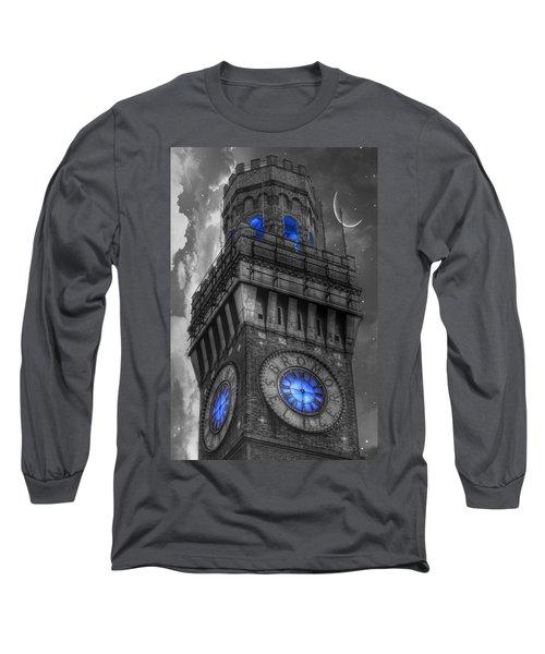 Bromo Seltzer Tower Baltimore - Blue  Long Sleeve T-Shirt