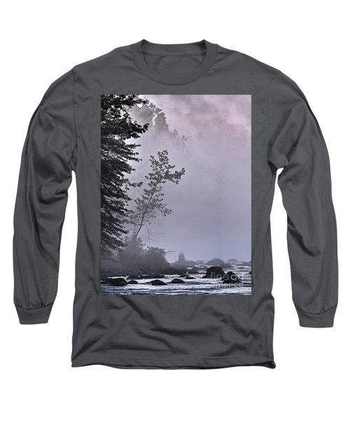 Brooding River Long Sleeve T-Shirt by Tom Cameron