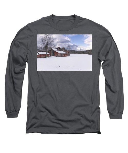 Brookline Winter Long Sleeve T-Shirt by Tom Singleton