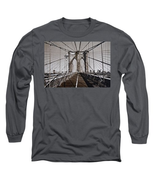 Brooklyn Bridge By Art Farrar Photographs, Ny 1930 Long Sleeve T-Shirt