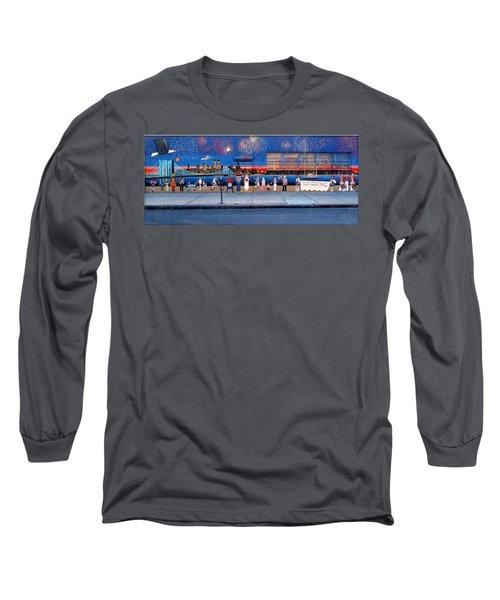 Brooklyn Bridge Fireworks Long Sleeve T-Shirt