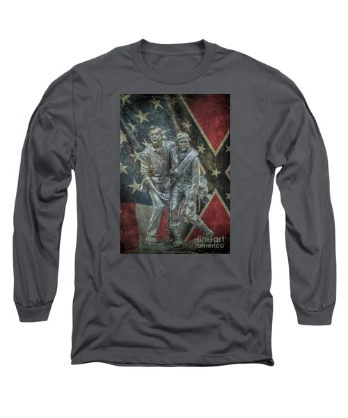 Long Sleeve T-Shirt featuring the digital art Brothers To The End by Randy Steele