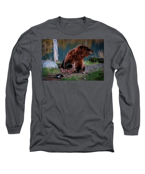 Brown Bear And Magpie Long Sleeve T-Shirt