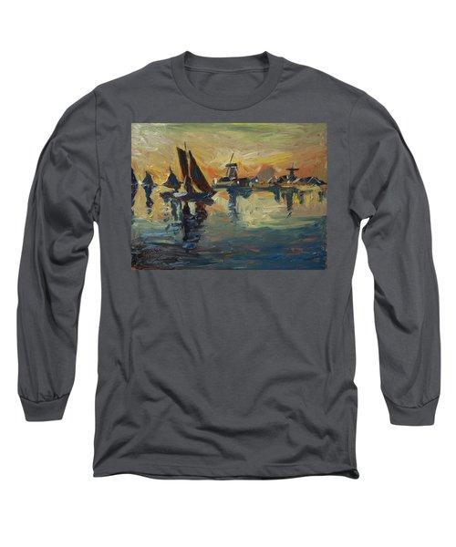 Brown Fleet On The Zaan Long Sleeve T-Shirt