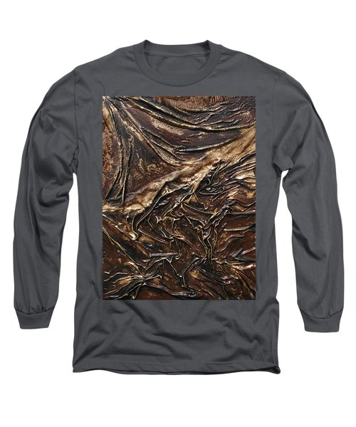 Brown Lace Long Sleeve T-Shirt